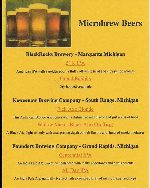 Microbrew Beers The Northwood Drummond Island