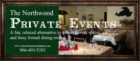 Private events catering by The Northwood Drummond Island MI