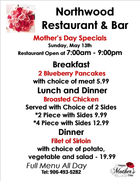 Mother's Day at The Northwood Drummond Island MI